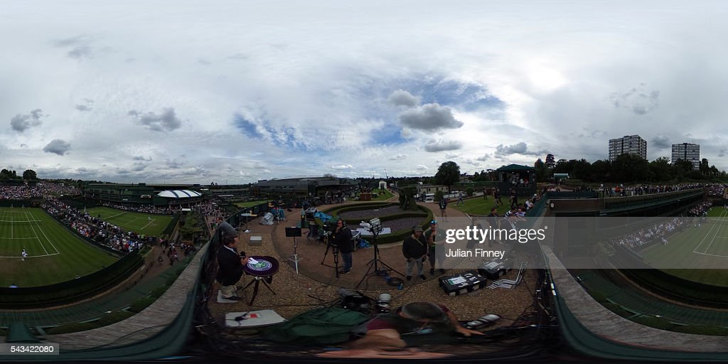 A general view overlooking court 18 during day two of the Wimbledon Lawn Tennis Championships at the All England Lawn Tennis and Croquet Club on June 28, 2016 in London, England.