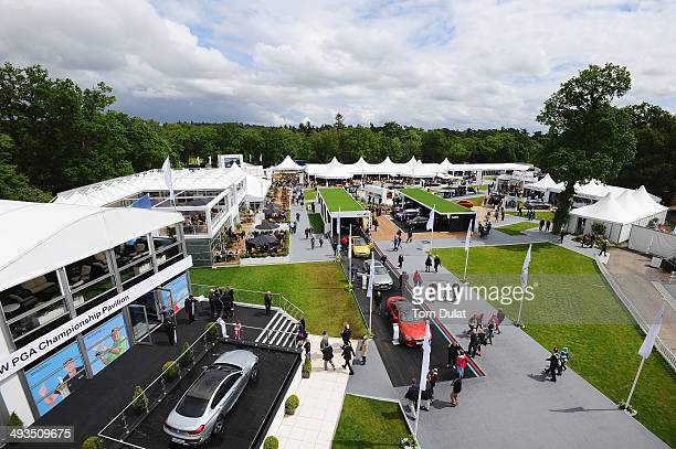 A general view overlooking the tented village during day three of the BMW PGA Championship at Wentworth on May 24 2014 in Virginia Water England