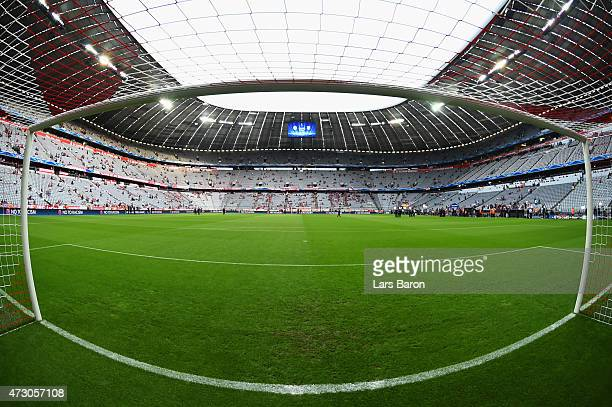 A general view pitchside ahead of the UEFA Champions League semi final second leg match between FC Bayern Muenchen and FC Barcelona at Allianz Arena...