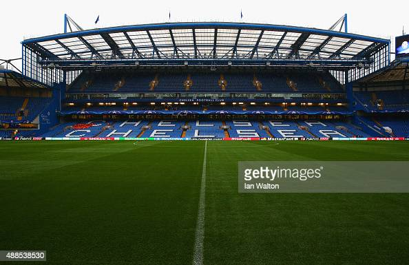 A general view pitchside prior to the UEFA Chanmpions League group G match between Chelsea and Maccabi TelAviv FC at Stamford Bridge on September 16...