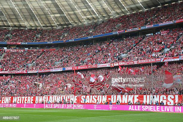 General view prior the Bundesliga match between Bayern Muenchen and VfB Stuttgart at Allianz Arena on May 10 2014 in Munich Germany