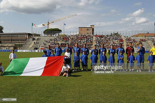 A general view prior the match between Italy U20 and Germany U20 at Stadio Porta Elisa on September 3 2015 in Lucca Italy