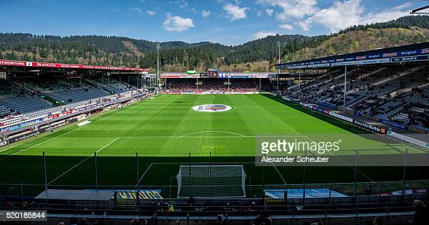 A general view prior the Second Bundesliga Match between SC Freiburg and FC St Pauli at SchwarzwaldStadion on April 10 2016 in Freiburg im Breisgau...