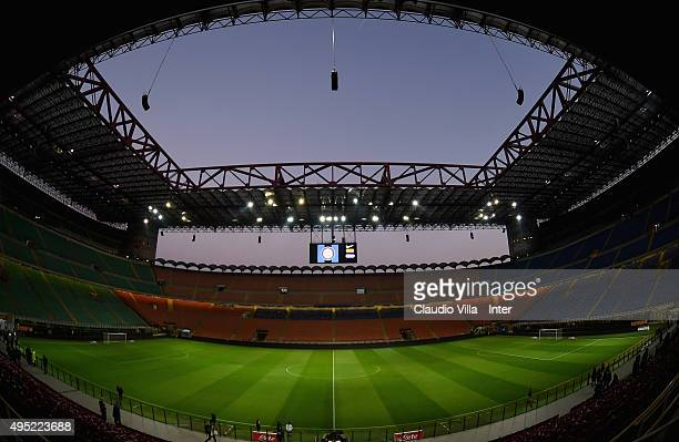 A general view prior the Serie A match between FC Internazionale Milano and AS Roma at Stadio Giuseppe Meazza on October 31 2015 in Milan Italy