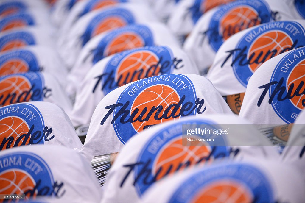 A general view prior to Game Four of the Western Conference Finals between the Golden State Warriors and Oklahoma City Thunder during the 2016 NBA Playoffs on May 24, 2016 at Chesapeake Energy Arena in Oklahoma City, Oklahoma.