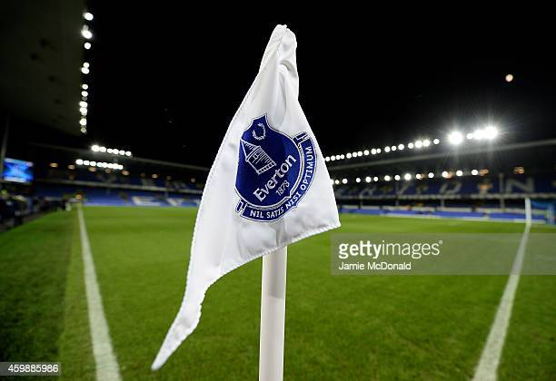 A general view prior to kickoff during the Barclays Premier League match between Everton and Hull City at Goodison Park on December 3 2014 in...