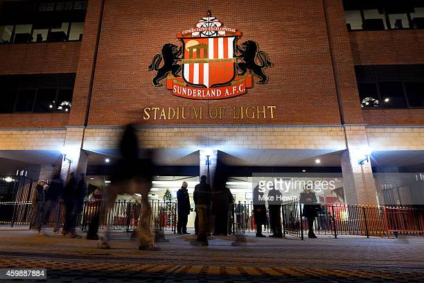 A general view prior to kickoff during the Barclays Premier League match between Sunderland and Manchester City at The Stadium of Light on December 3...