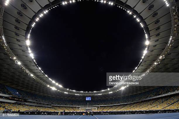A general view prior to kickoff during the International Friendly match between Ukraine and Wales at NSK Olimpijskyj on March 28 2016 in Kiev Ukraine