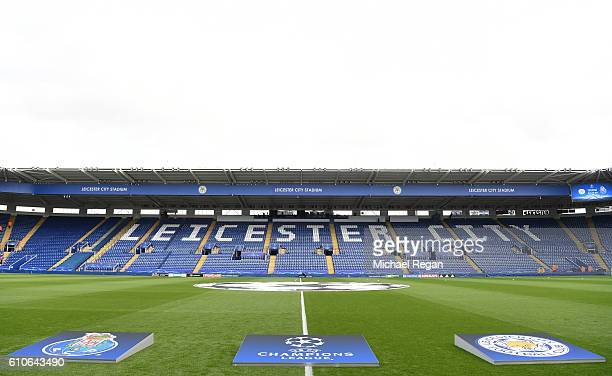 A general view prior to kickoff during the UEFA Champions League match between Leicester City FC and FC Porto at The King Power Stadium on September...
