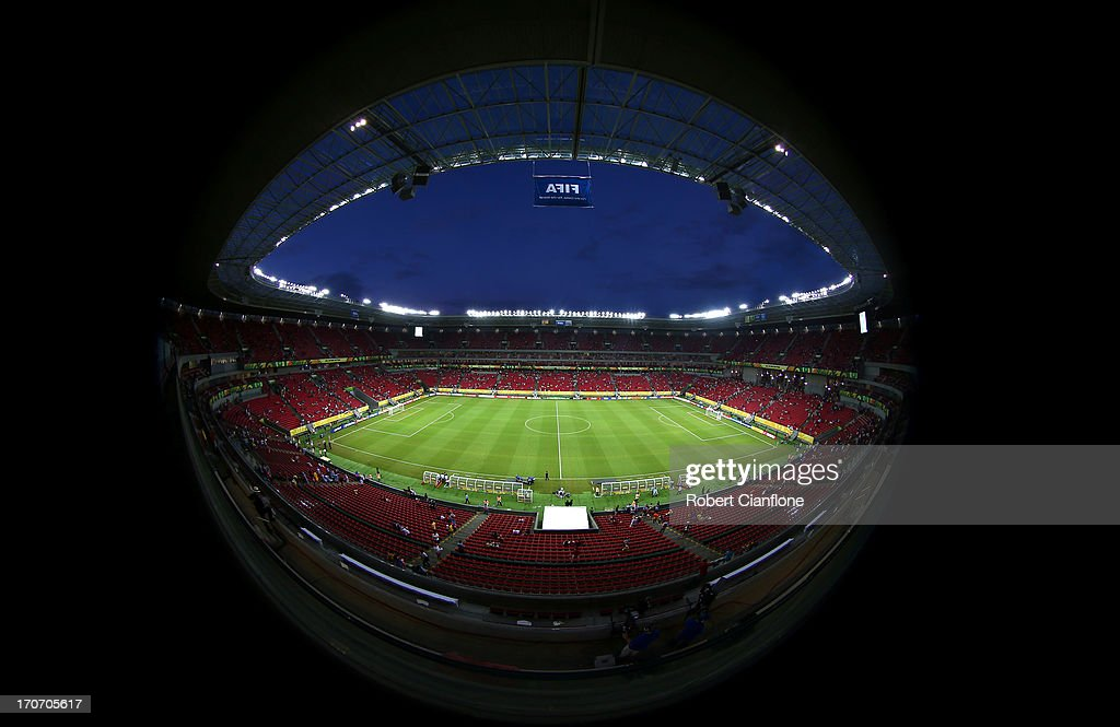General view prior to prior to the FIFA Confederations Cup Brazil 2013 Group B match between Spain and Uruguay at the Arena Pernambuco on June 16, 2013 in Recife, Brazil.