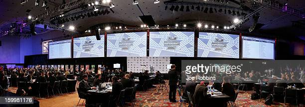 General view prior to the 2013 MLS SuperDraft Presented by Adidas at the Indiana Convention Center on January 17 2013 in Indianapolis Indiana