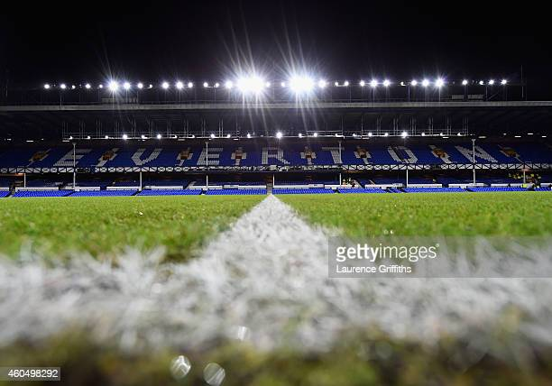 A general view prior to the Barclays Premier League match between Everton and Queens Park Rangers at Goodison Park on December 15 2014 in Liverpool...