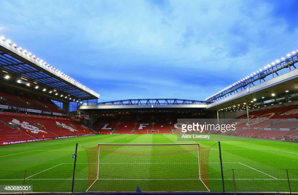 General View prior to the Barclays Premier League match between Liverpool and Sunderland at Anfield on March 26 2014 in Liverpool England