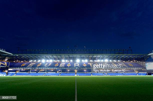 A general view prior to the Barclays Premier League match between Everton and Crystal Palace at Goodison Park on December 7 2015 in Liverpool England