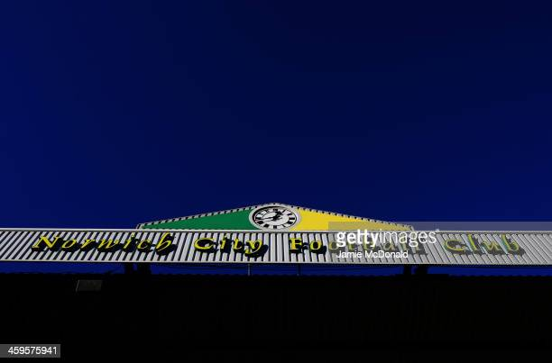 A general view prior to the Barclays Premier League match between Norwich City and Manchester United at Carrow Road on December 28 2013 in Norwich...