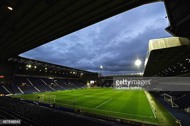 A general view prior to the Barclays Premier League match between West Bromwich Albion and Manchester United at The Hawthorns on October 20 2014 in...