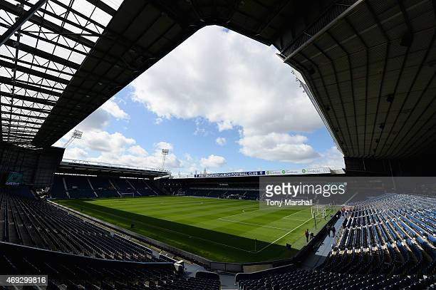 A general view prior to the Barclays Premier League match between West Bromwich Albion and Leicester City at The Hawthorns on April 11 2015 in West...
