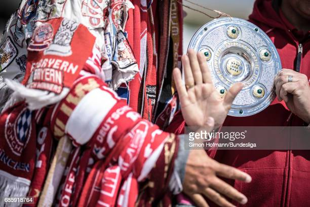 A general view prior to the Bundesliga match between Bayern Muenchen and SC Freiburg at Allianz Arena on May 20 2017 in Munich Germany