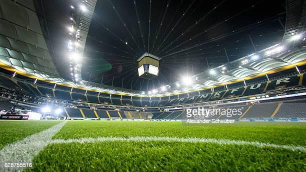 A general view prior to the Bundesliga match between Eintracht Frankfurt and TSG 1899 Hoffenheim at CommerzbankArena on December 9 2016 in Frankfurt...