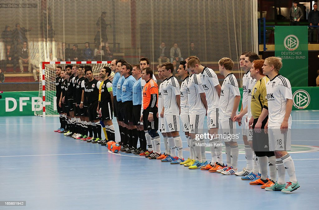 General view prior to the DFB Futsal Cup final match between Hamburg Panthers and UFC Muenster at Sporthalle Wandsbek on April 6, 2013 in Hamburg, Germany.