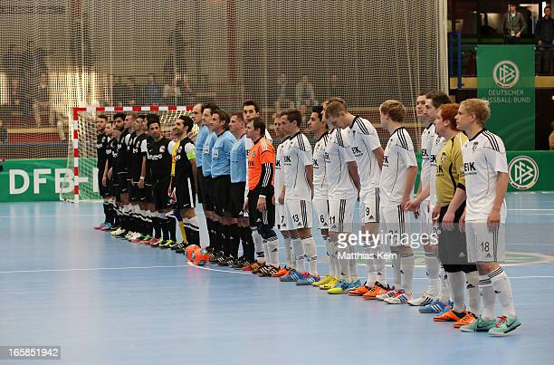 General view prior to the DFB Futsal Cup final match between Hamburg Panthers and UFC Muenster at Sporthalle Wandsbek on April 6 2013 in Hamburg...