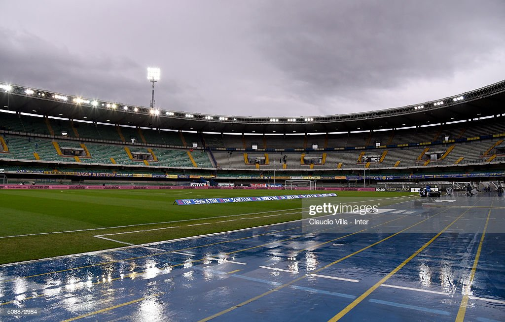 General view prior to the during the Serie A match between Hellas Verona FC and FC Internazionale Milano at Stadio Marc'Antonio Bentegodi on February 7, 2016 in Verona, Italy.