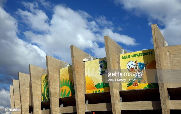 General View prior to the FIFA Confederations Cup Brazil 2013 Group B match between Tahiti and Nigeria at Governador Magalhaes Pinto Estadio Mineirao...