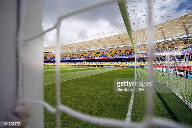 A general view prior to the FIFA U17 World Cup Chile 2015 Group F match between France and Syria at Estadio Municipal de Concepcion on October 25...