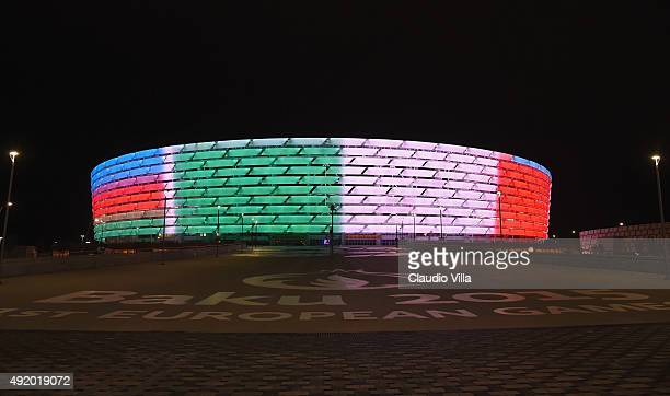 A general view prior to the Italy training session on October 9 2015 in Baku Azerbaijan