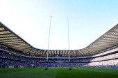 A general view prior to the RBS Six Nations match between England and Wales at Twickenham Stadium on March 9 2014 in London England