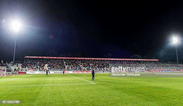 A general view prior to the Second Bundesliga match between FC Wuerzburger Kickers and FC St Pauli at flyeralarm Arena on November 7 2016 in...