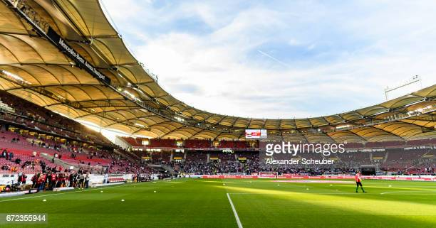 A general view prior to the Second Bundesliga match between VfB Stuttgart and 1 FC Union Berlin at MercedesBenz Arena on April 24 2017 in Stuttgart...