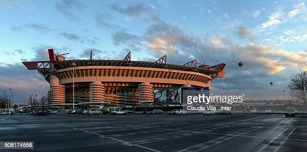 General view prior to the Serie A match between FC Internazionale Milano and AC Chievo Verona at Stadio Giuseppe Meazza on February 3 2016 in Milan...