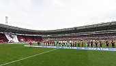 A general view prior to the Serie A match between Torino FC and Juventus FC at Stadio Olimpico di Torino on April 26 2015 in Turin Italy