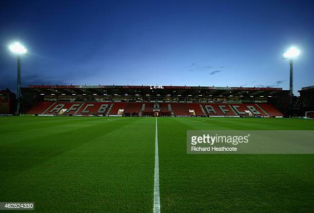 A general view prior to the Sky Bet Championship match between AFC Bournemouth and Watford City at Goldsands Stadium on January 30 2015 in...