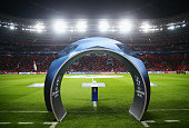 A general view prior to the UEFA Champions League Group E match between Bayer 04 Leverkusen and FC BATE Borisov at BayArena on September 16 2015 in...