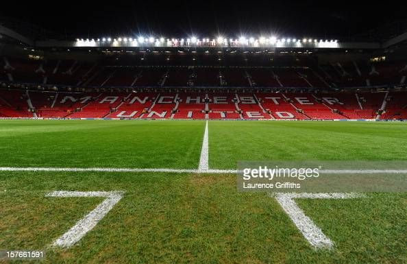 General View prior to the UEFA Champions League Group H match between Manchester United and CFR 1907 Cluj at Old Trafford on December 5 2012 in...