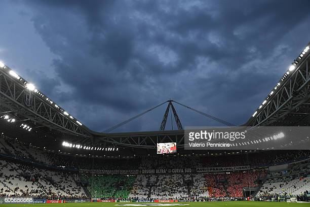A general view prior to the UEFA Champions League Group H match between Juventus FC and Sevilla FC at Juventus Stadium on September 14 2016 in Turin...