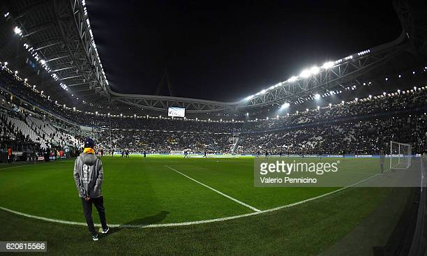 A general view prior to the UEFA Champions League Group H match between Juventus and Olympique Lyonnais at Juventus Stadium on November 2 2016 in...