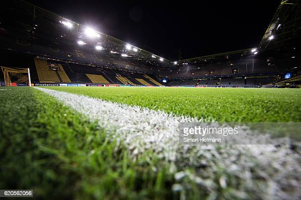 A general view prior to the UEFA Champions League match between Borussia Dortmund and Sporting Clube de Portugal at Signal Iduna Park on November 2...