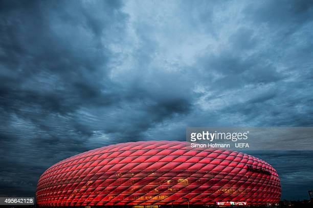 A general view prior to the UEFA Champions League match between FC Bayern Muenchen and Arsenal FC at Allianz Arena on November 4 2015 in Munich...