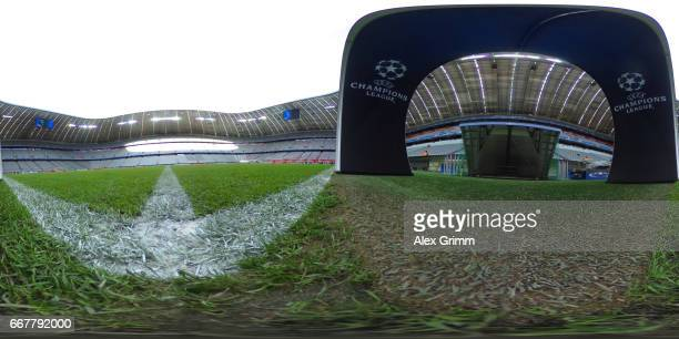 A general view prior to the UEFA Champions League Quarter Final first leg match between FC Bayern Muenchen and Real Madrid CF at Allianz Arena on...