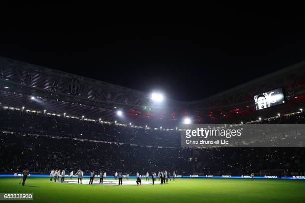 General View prior to the UEFA Champions League Round of 16 second leg match between Juventus and FC Porto at Juventus Stadium on March 14 2017 in...