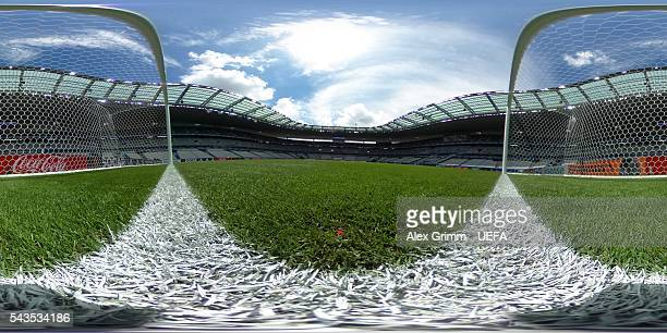 A general view prior to the UEFA EURO 2016 Group F match between Iceland and Austria at Stade de France on June 22 2016 in Paris France