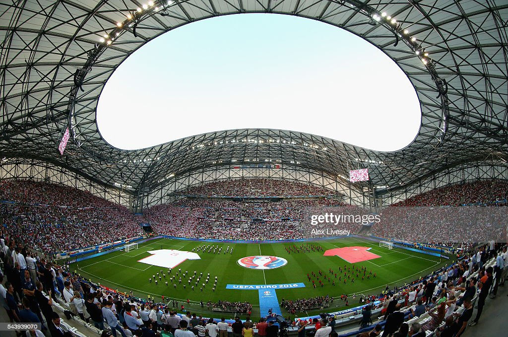 A general view prior to the UEFA EURO 2016 quarter final match between Poland and Portugal at Stade Velodrome on June 30, 2016 in Marseille, France.