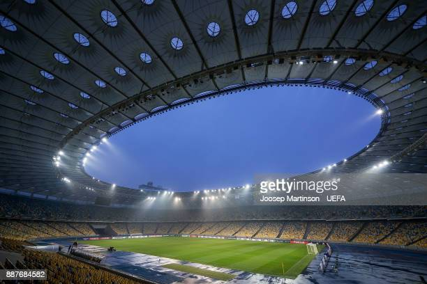 A general view prior to the UEFA Europa League group B match between Dinamo Kiev and Partizan at NSK Olimpiyskyi Stadium on December 7 2017 in Kiev...