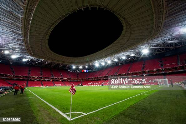General View prior to the UEFA Europa League group F match between Athletic Club and US Sassuolo Calcio at the Estadio de San Mames on November 24...