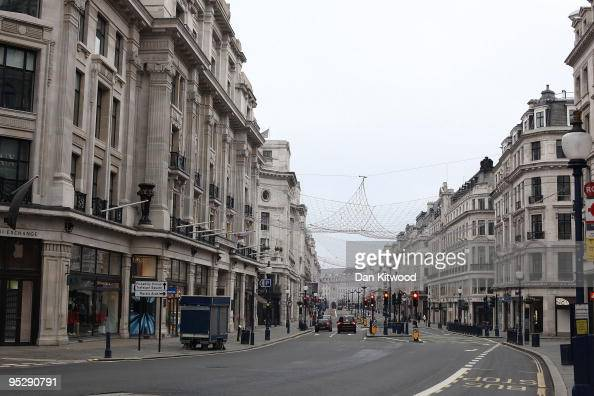 A general view Regent Street on Christmas Day on December 25 2009 in London England The streets of London were quiet today ahead of tomorrows Boxing...