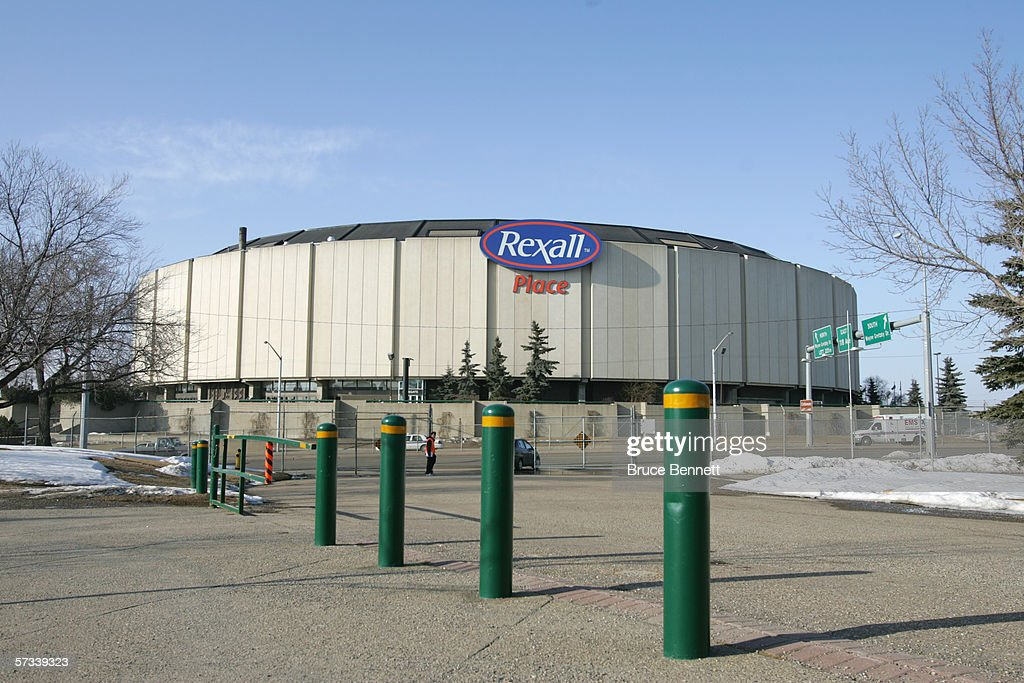 A general view Rexall Place home of NHL Edmonton Oilers in Edmonton Alberta Canada