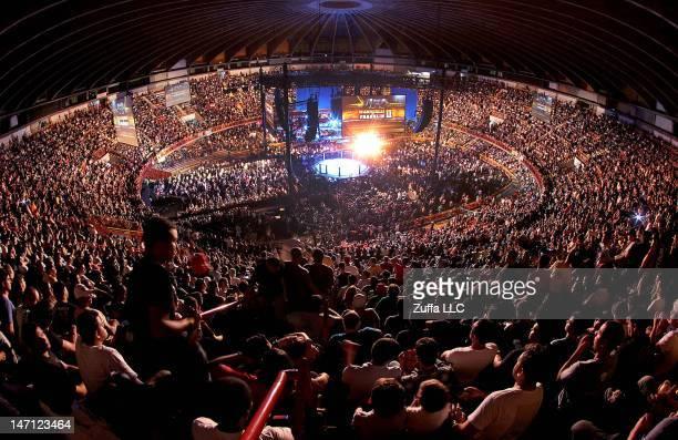 General view shot of Mineirinho Arena during UFC 147 on June 23 2012 in Belo Horizonte Brazil